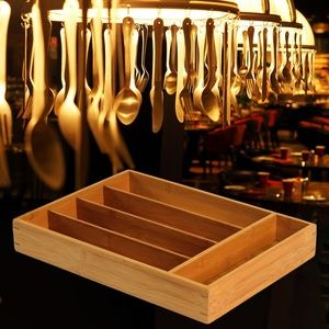 Threshold Flatware Utensil Bamboo Drawer Organizer